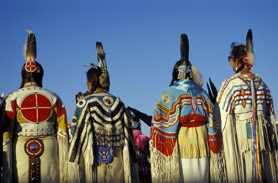 Womens Traditional Dancers,North American Indian days,Browning, Montana, USA